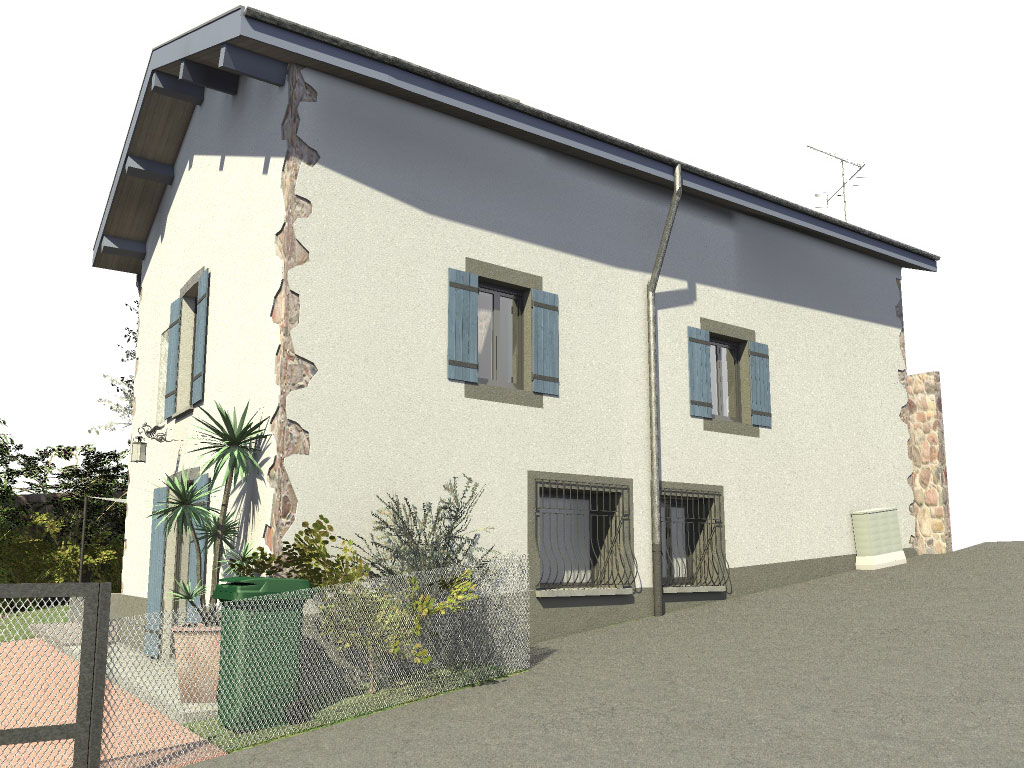 R novation d une maison ancienne yeg architecte for Facade maison gris souris