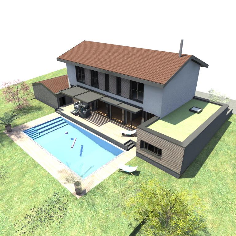 Villa avec piscine yeg architecte - Pourtour de piscine ...
